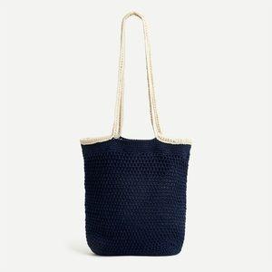 NWT J.Crew Crochet Market Bag